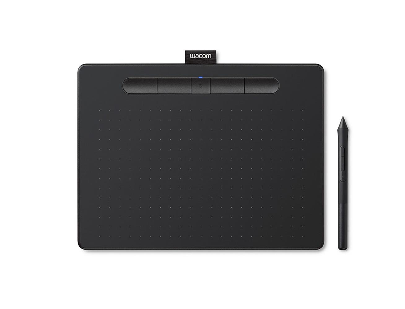 Wacom Intuos Bluetooth Pen Tablet with pressure-sensitive,Battery