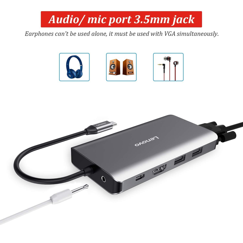 Lenovo USB C Hub, Type C Adapter With 4K HDMI - Grey  Blink Kuwait