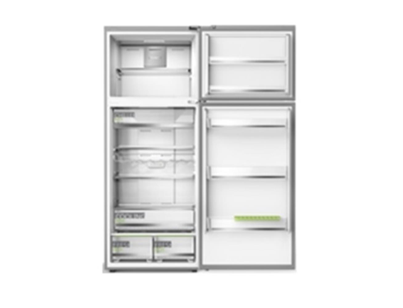 Midea Double Door Refrigerator 463 Liters »Silver  Blink Kuwait