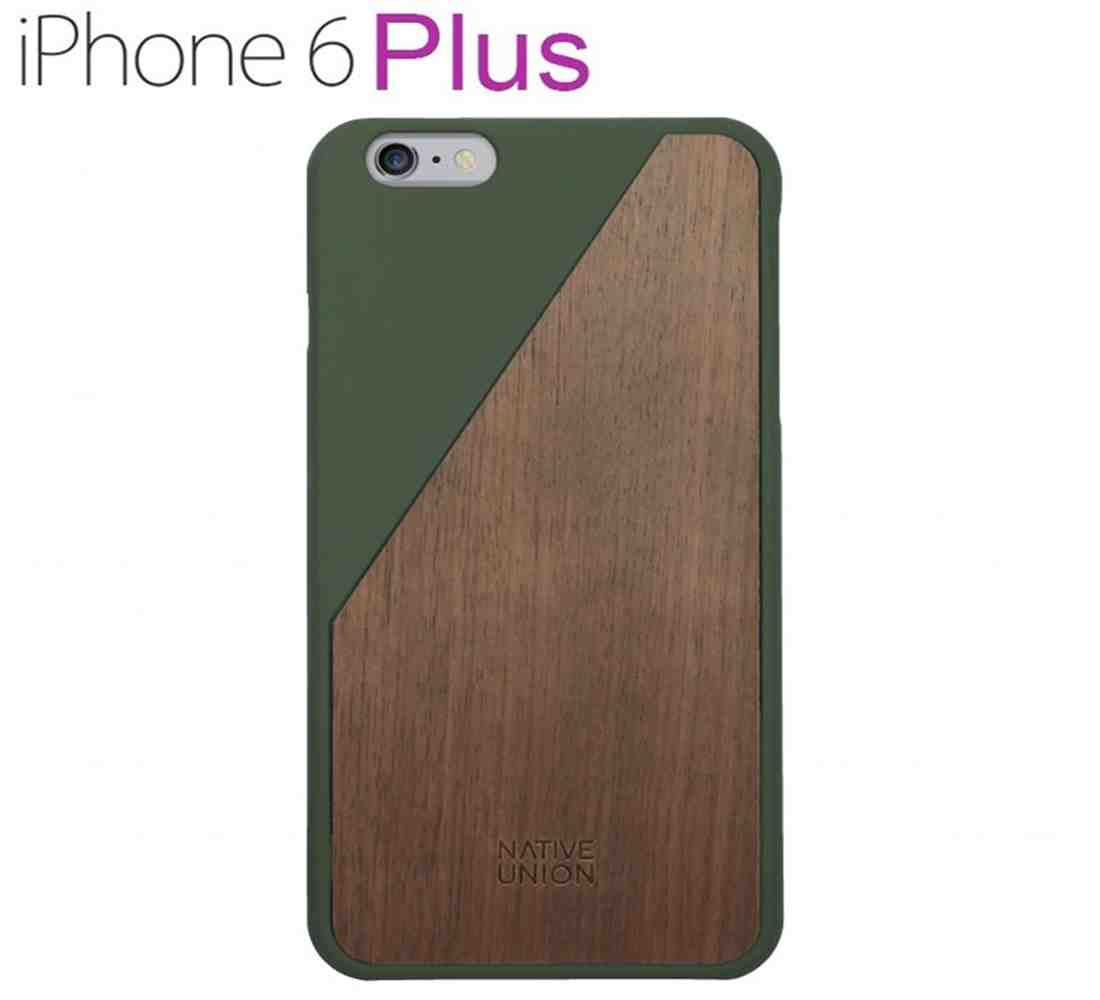 Native Union Clic Wooden Handcrafted Case For Iphone 6 Plus Wood Olive