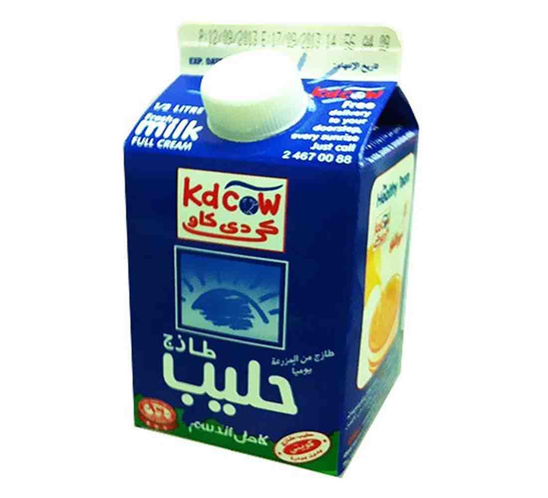KD Cow Fresh Milk Full Cream 500ml (101022)| Blink Kuwait