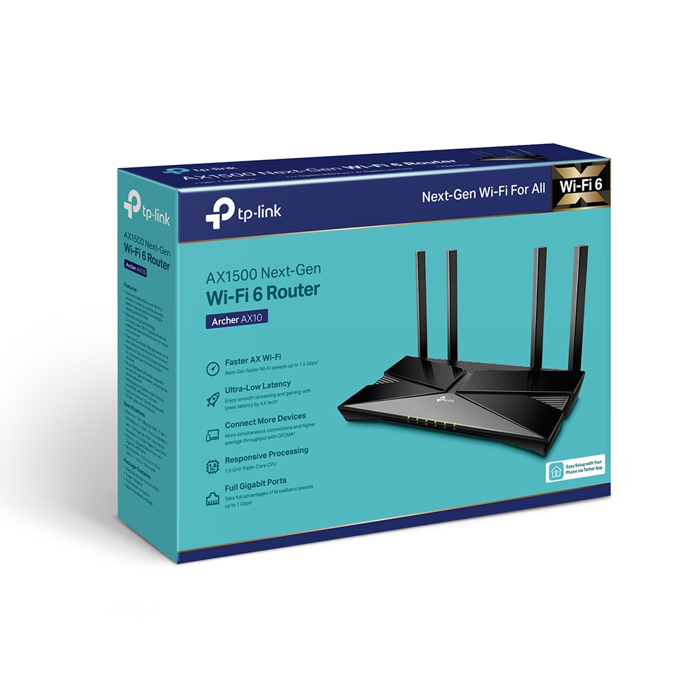 Buy Tp Link Archer Ax10 Ac1500 Wifi 6 Router Next Gen 1 5 Gbps Speeds Online In Kuwait Best Price At Blink Blink Kuwait