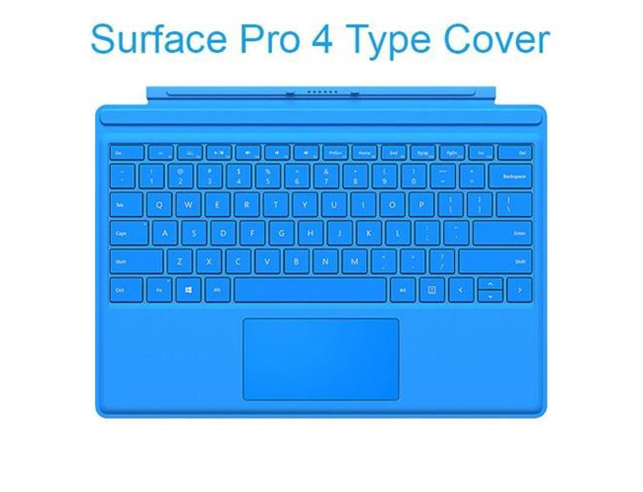 d34fd315baa Microsoft - Surface Pro 4 & Surface Pro 3 Type Cover - Bright Blue ...