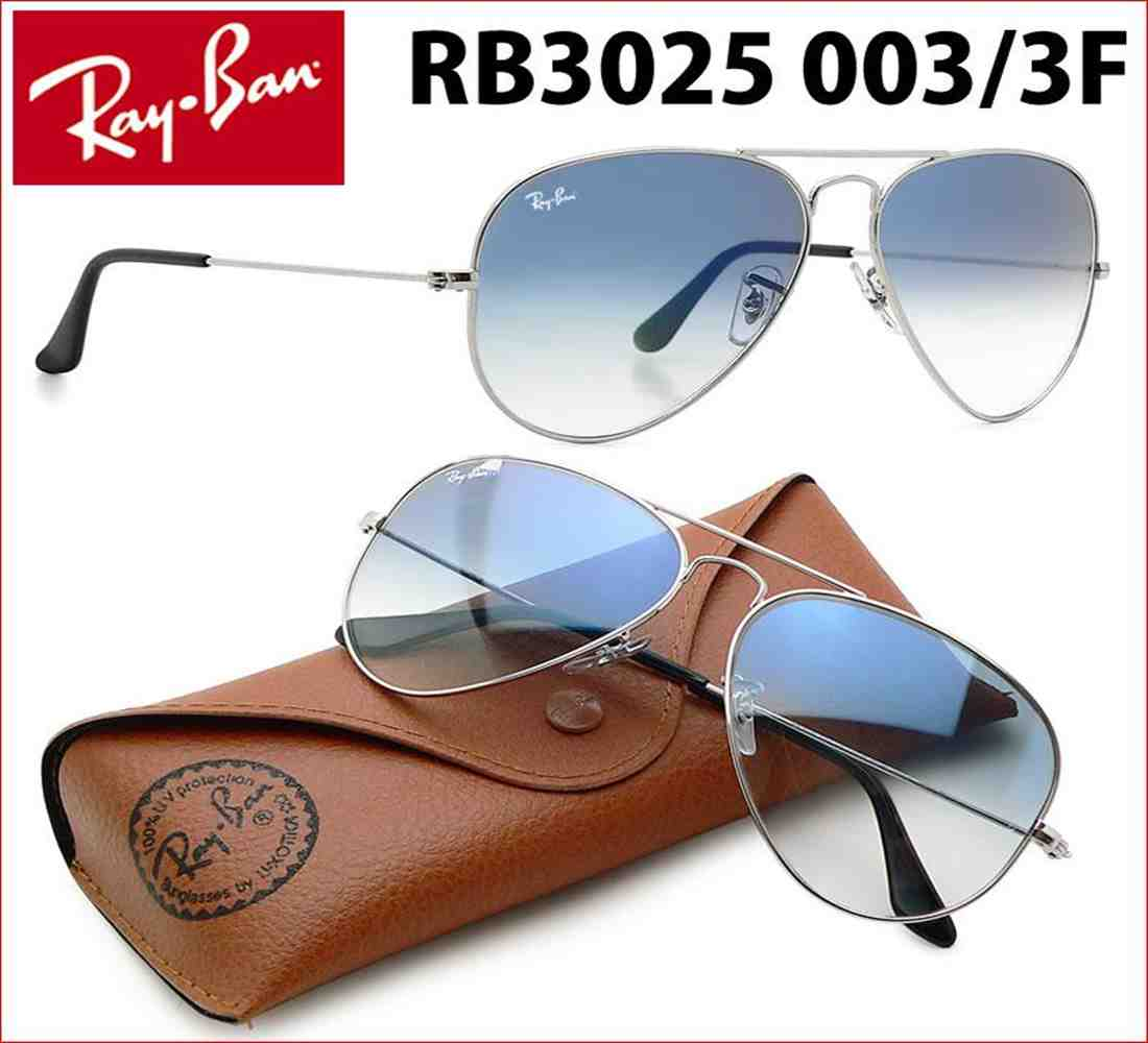 89d0dc3fe5 ... Ray-Ban RB3025 Aviator Large Metal Sunglasses 58 mm 003 3F Silver Frame