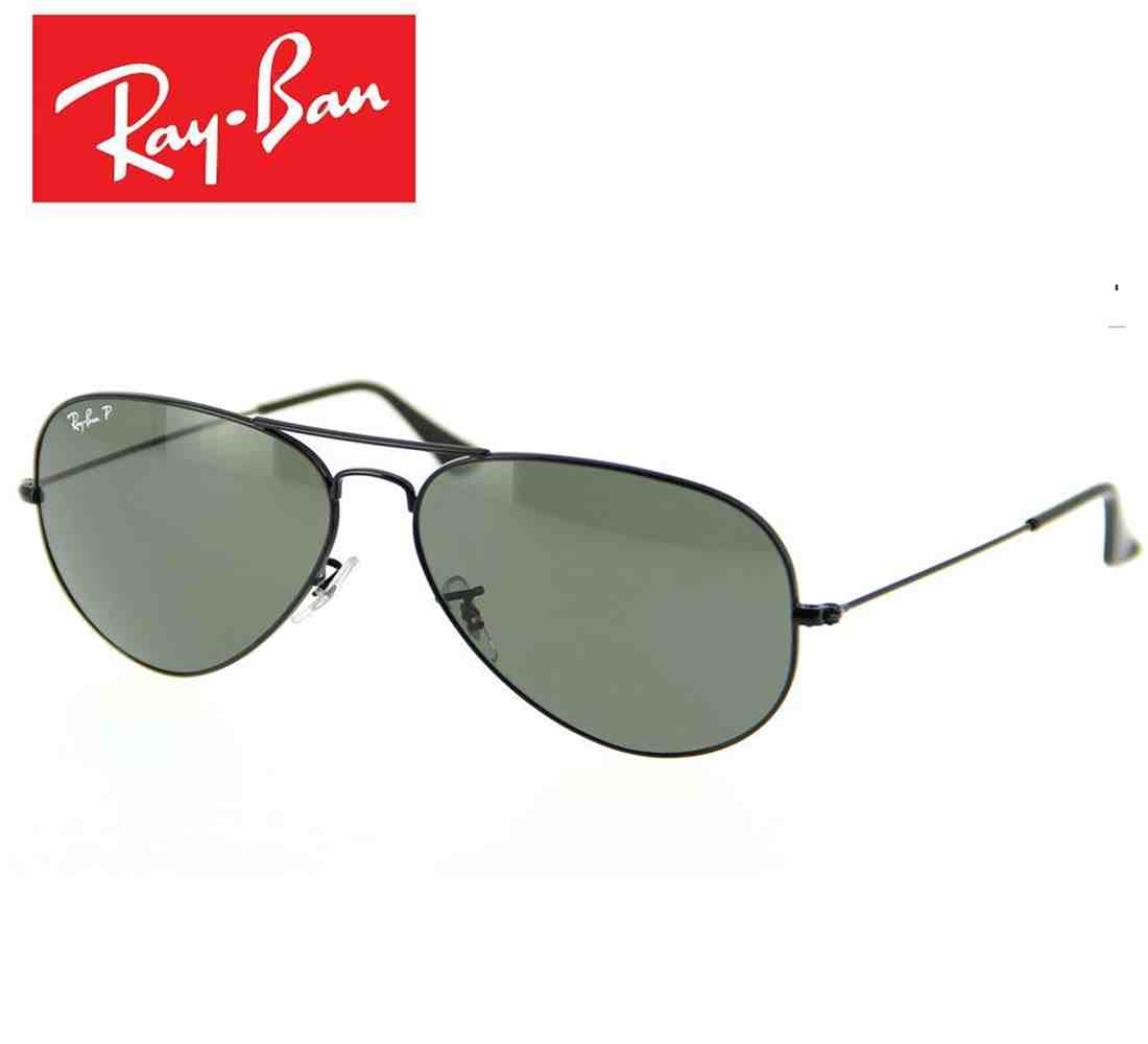 dc29e273a9 Ray-Ban RB3025 002 58 Polarized Aviator Size 58 Black Frame ...