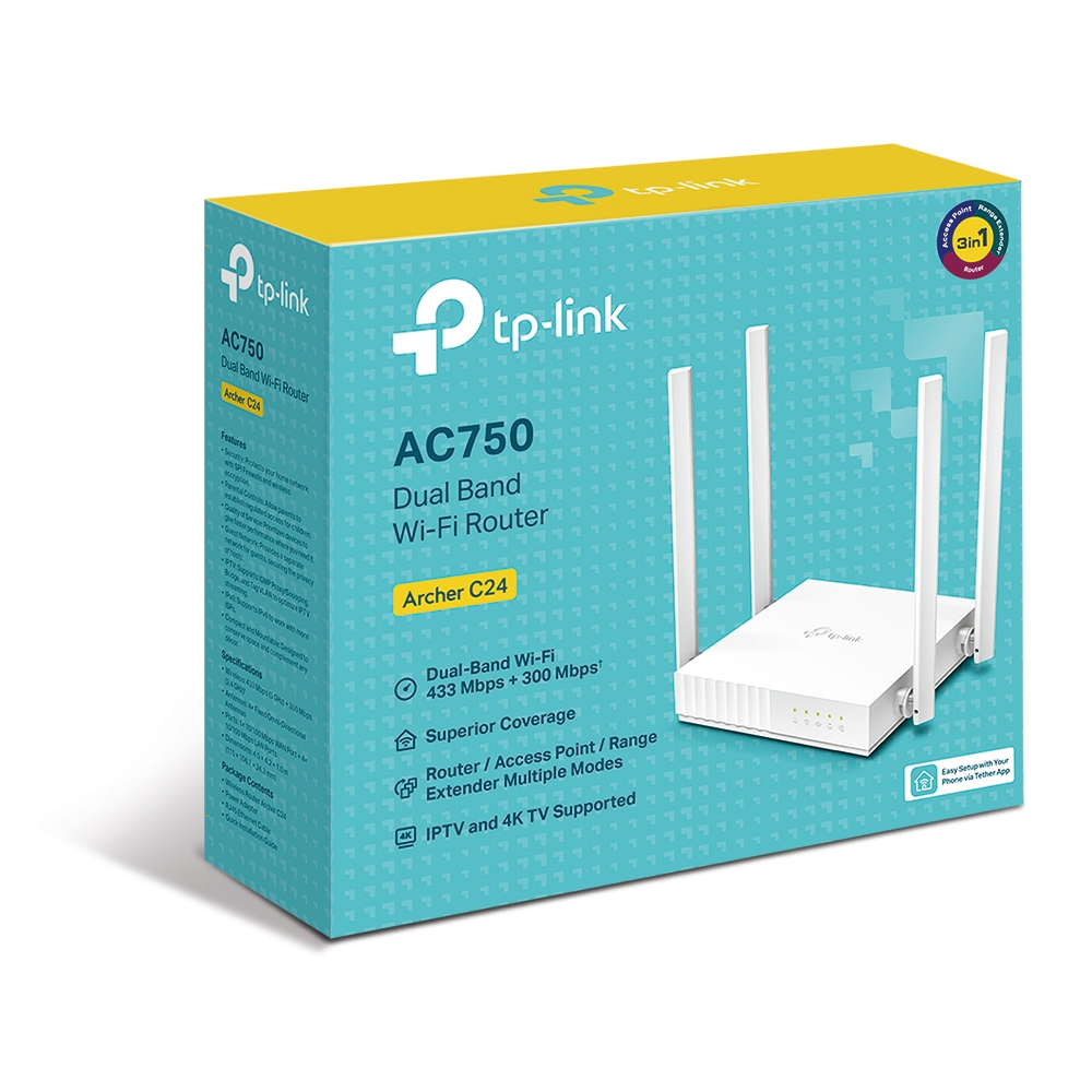 Buy Tp Link Archer C24 Ac750 Dual Band Wi Fi Router Online In Kuwait Best Price At Blink Blink Kuwait