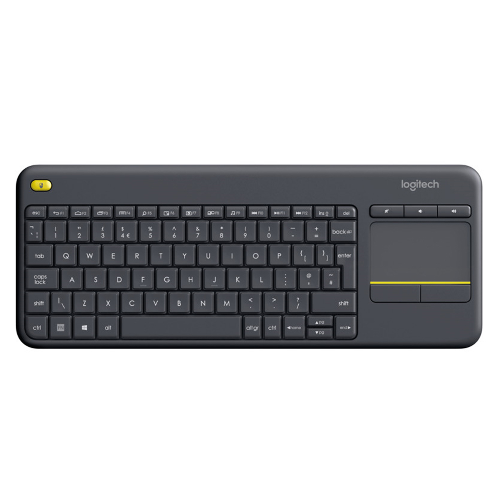 9862ceff166 Logitech Wireless Keyboard K400 Plus with Touchpad for Smart TV & PC ...