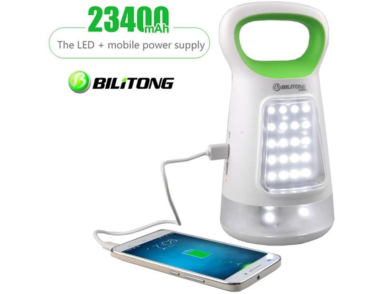 Bilitong Dual USB Power Bank 23400 mAh for iPhone & iPads with Portable LED  Light ...