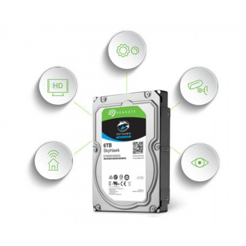 Seagate 6TB SkyHawk Surveillance Hard Drive Internal Storage SMB DVR