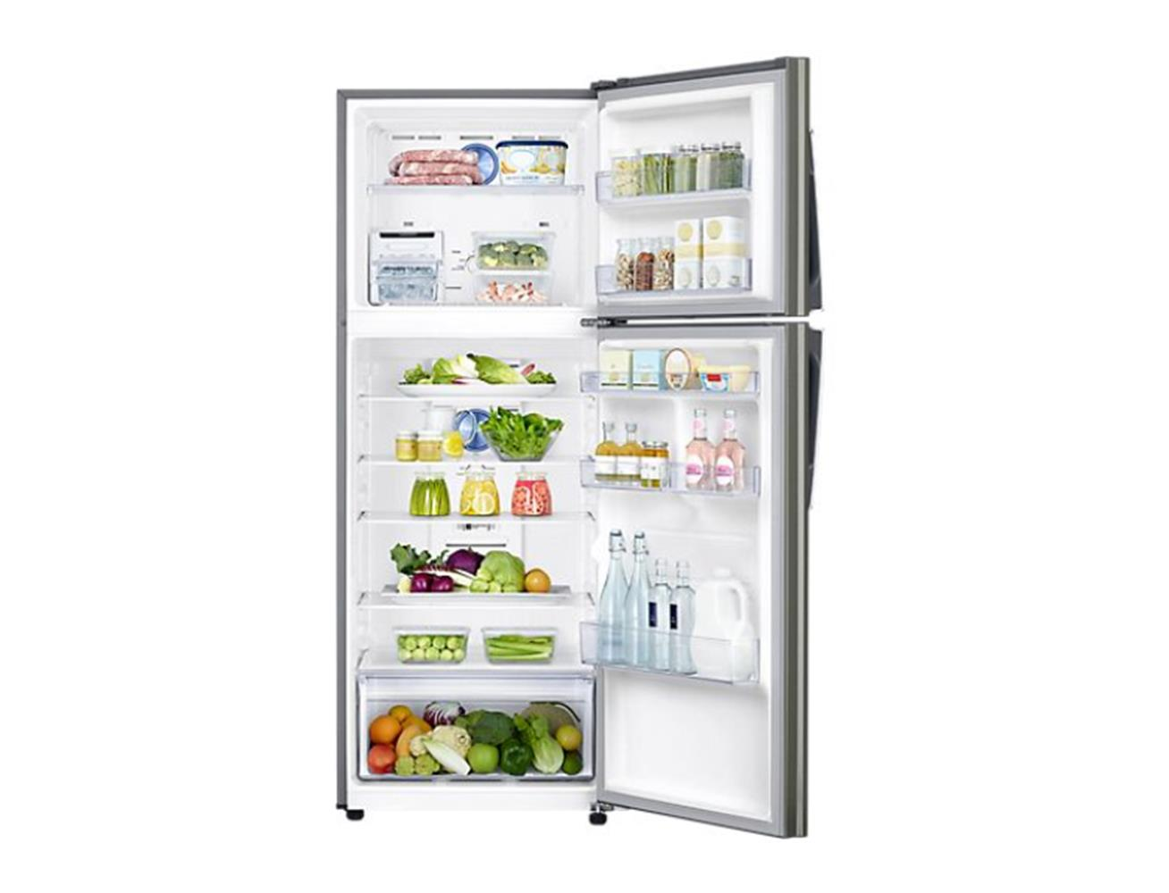 Samsung Refrigerator 500L, Twin Cooling Plus™ - Platinum Inox  Blink