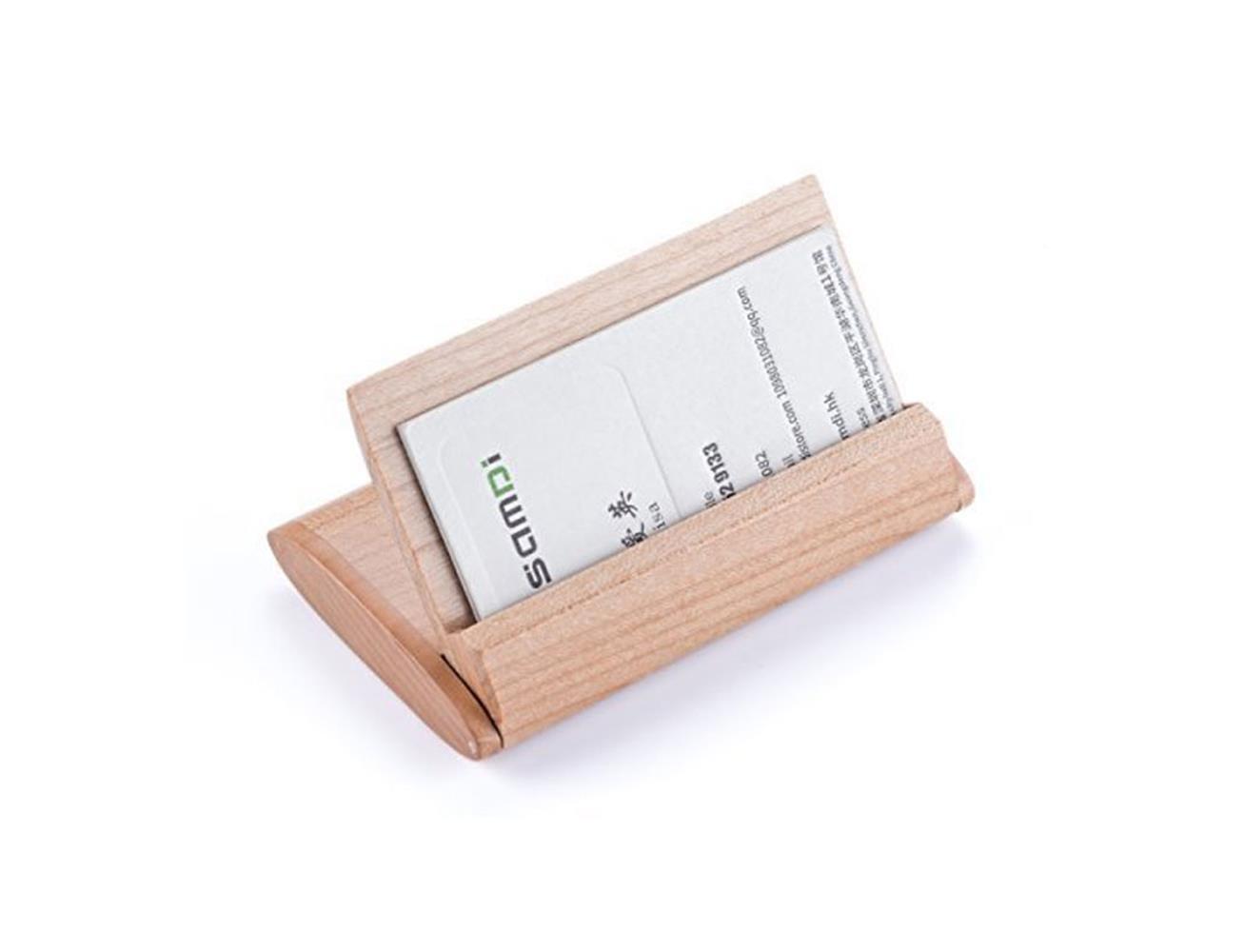 Samdi natural wood foldable business card holder basswood best samdi natural wood foldable business card holder basswood reheart Images