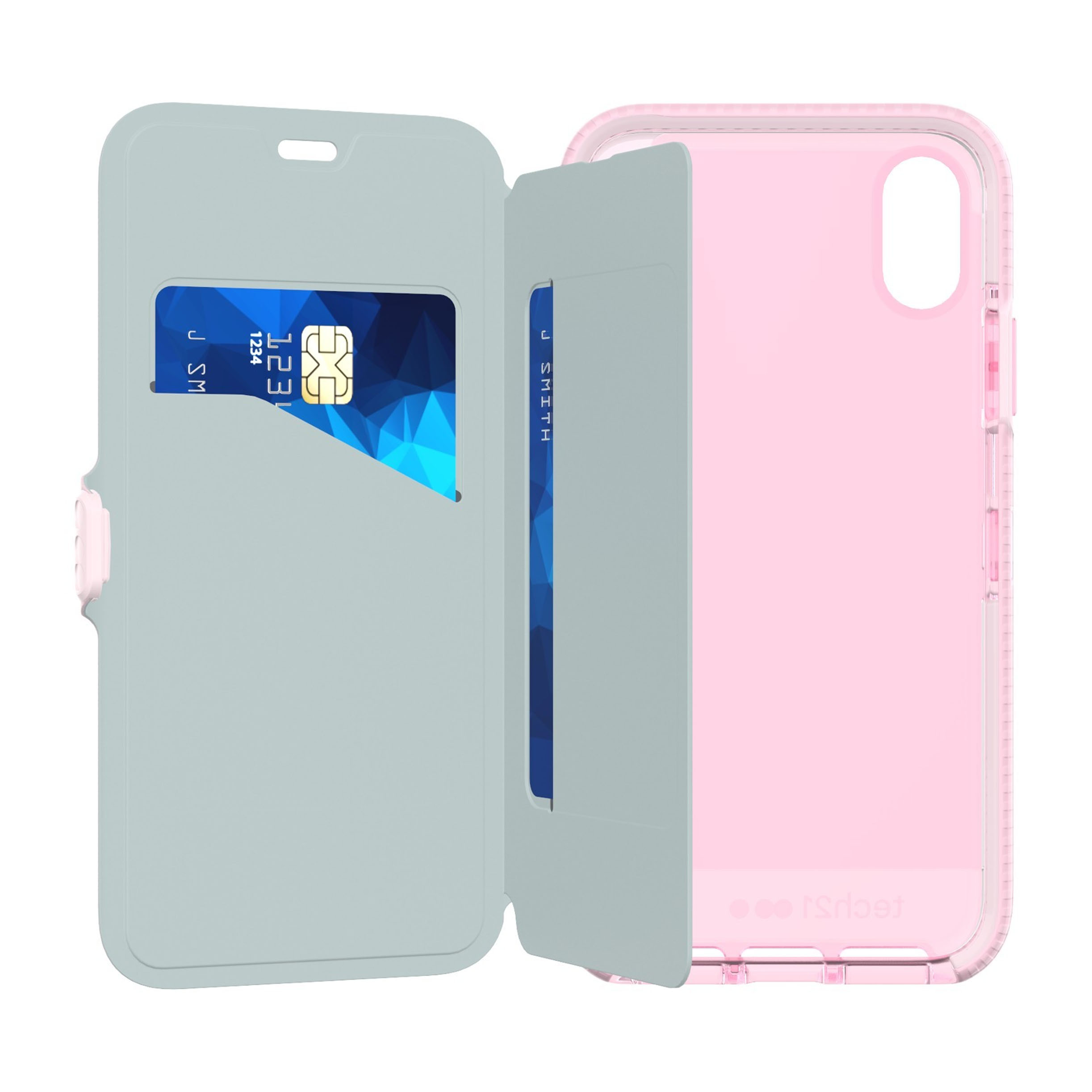 newest fd936 cf2be Tech21 Evo Wallet Case for Apple iPhone X/XS - Pink| Blink Kuwait
