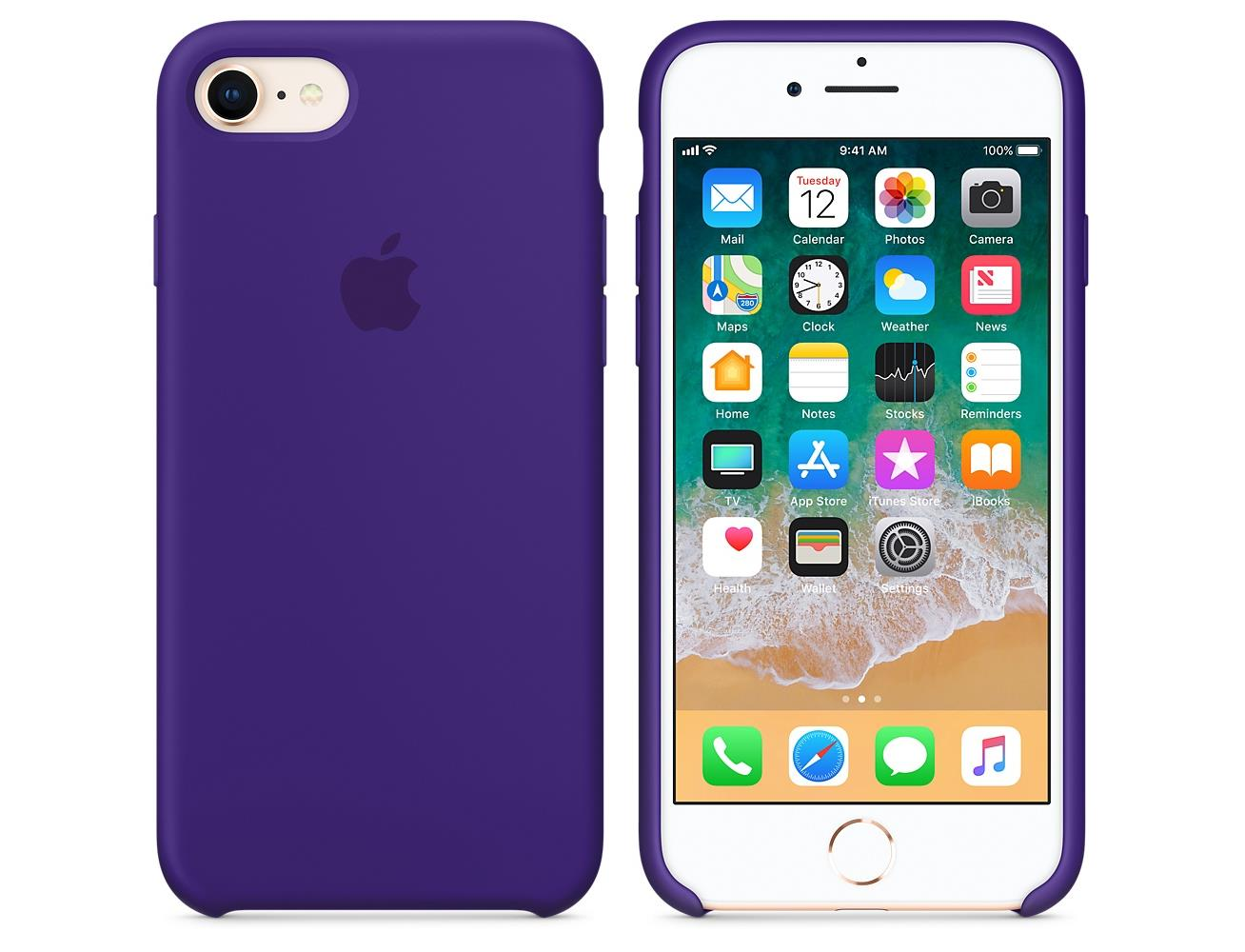 info for 1eb78 51765 Apple iPhone 8 / 7 Silicone Case - Ultra Violet| Blink Kuwait