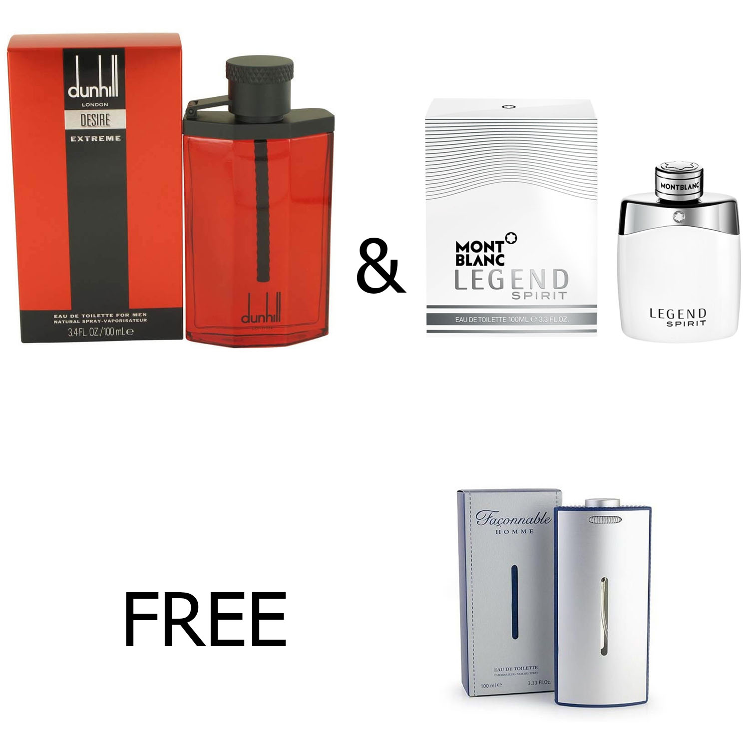 Dunhill Desire Red Extreme Edt 100 Ml Mont Blanc Legend Spirit Be The Free