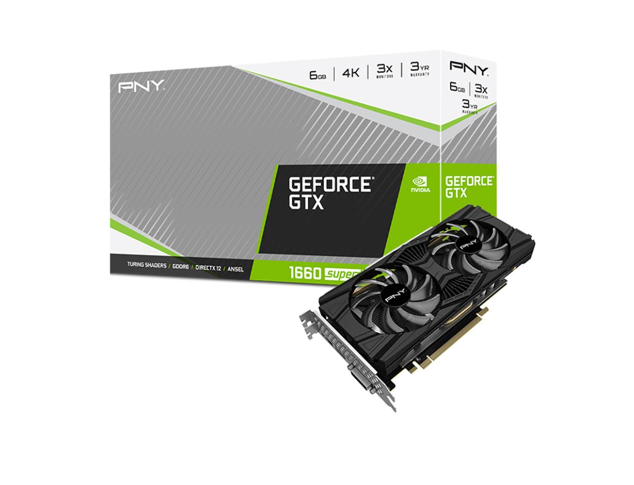 Buy PNY GeForce GTX 1660 SUPER Dual Fan 6GB Graphics Card Online in Kuwait, Best Price at Blink| Blink Kuwait