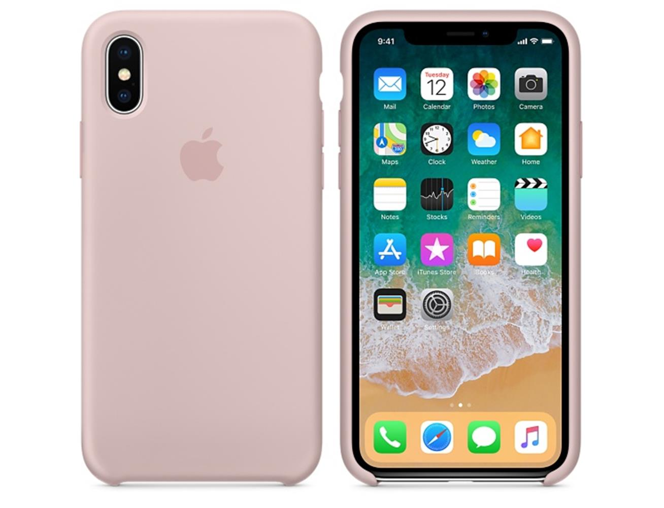 Apple iPhone X/XS Silicone Case - Pink Sand| Blink Kuwait