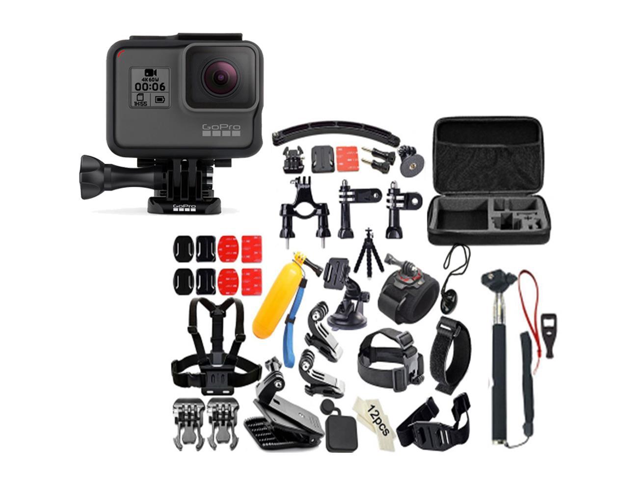 gopro hero 6 water proof 4k action camera with free kamkit gopro accessories kit blink kuwait. Black Bedroom Furniture Sets. Home Design Ideas