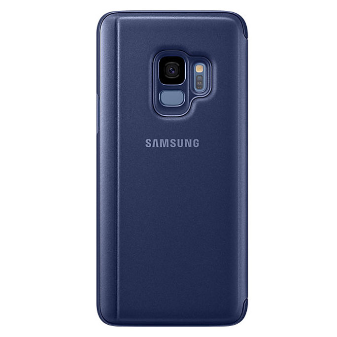Samsung Clear View Standing Cover Flip Case for Samsung Galaxy S9 - Blue| Blink Kuwait