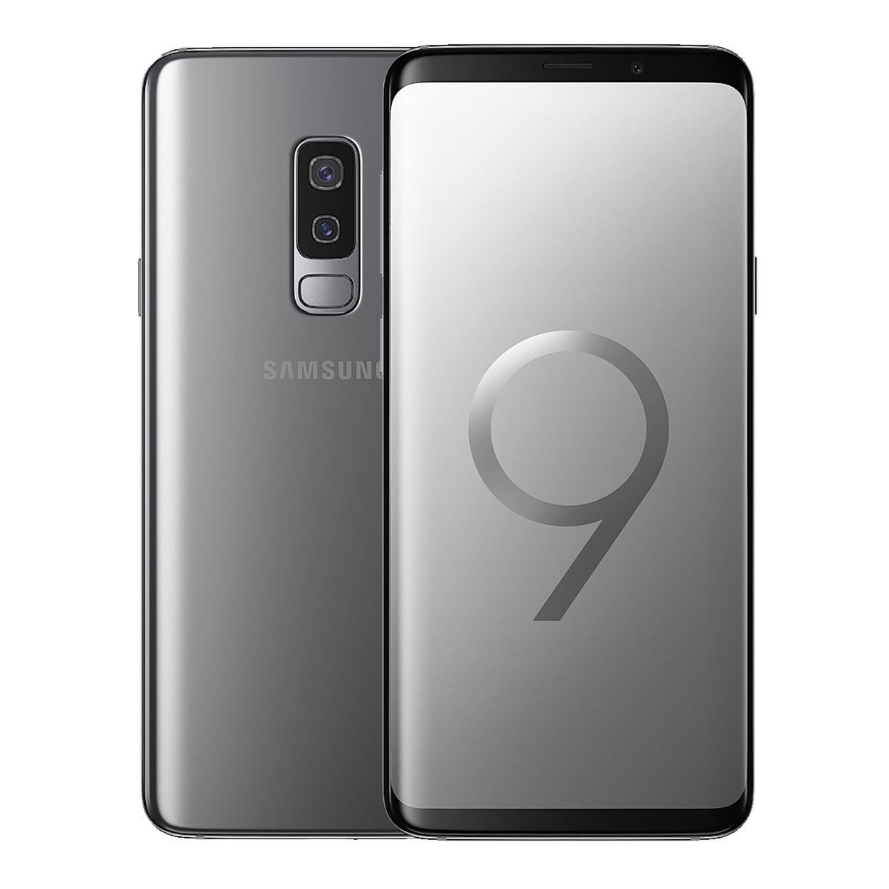 samsung galaxy s9 plus smart phone 6 2 6gb ram 256gb 12mp 8mp 4g lte titanium gray blink. Black Bedroom Furniture Sets. Home Design Ideas